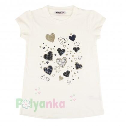 Wanex Комплект детский синие леггинсы и белая футболка - Картинка 2