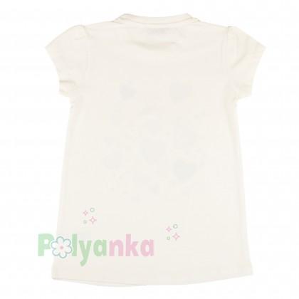 Wanex Комплект детский синие леггинсы и белая футболка - Картинка 3