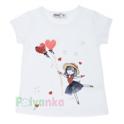Wanex Комплект футболка с девочкой  с шариками и капри - Картинка 2