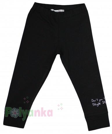 Wanex Леггинсы детские черные с принтом - Картинка 1