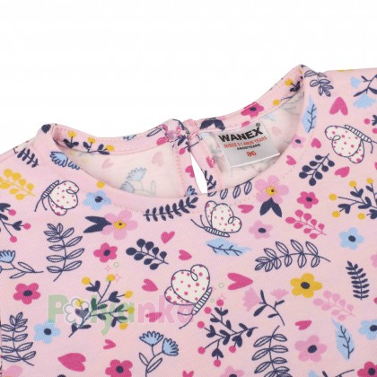 Wanex Платье летнее детское розовое с мелким рисунком - Картинка 2