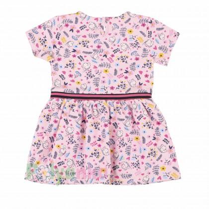 Wanex Платье летнее детское розовое с мелким рисунком - Картинка 3