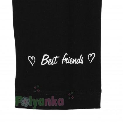 Wanex Костюм для девочки туника с девочками и черные леггинсы - Картинка 11
