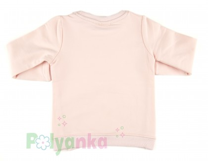 "Wanex Свитшот детский нежно розовый ""I love mommy"" с бантиком - Картинка 7"