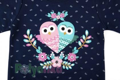 Wanex Свитшот детский синий и совами - Картинка 4