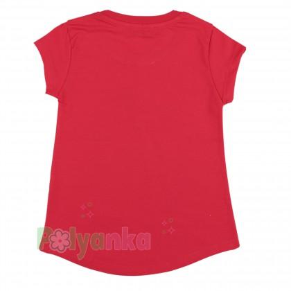 Wanex Футболка детская малиновая с цветами - Картинка 2