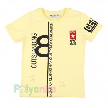 Wanex Комплект детский желтая футболка и красные шорты с карманами - Картинка 2