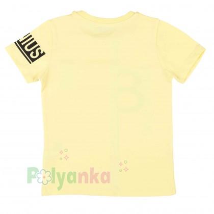 Wanex Комплект детский желтая футболка и красные шорты с карманами - Картинка 3