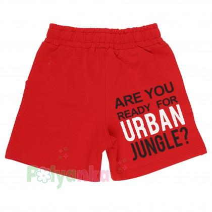 Wanex Комплект детский желтая футболка и красные шорты с карманами - Картинка 5