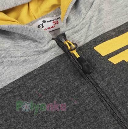 Wanex Спортивный костюм детский олимпийка светло-серая и темно-серые спортивные штаны - Картинка 4