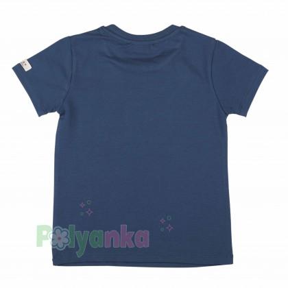"""Wanex Футболка детская синяя с мотоциклом """"Wroоom"""" - Картинка 2"""