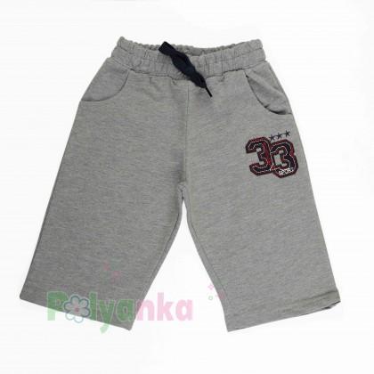 Breeze girls & boys Детские шорты для мальчиков серые с карманами - Картинка 1