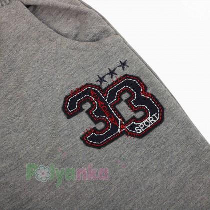 Breeze girls & boys Детские шорты для мальчиков серые с карманами - Картинка 3