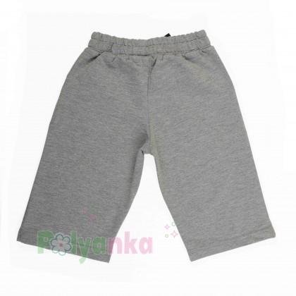 Breeze girls & boys Детские шорты для мальчиков серые с карманами - Картинка 4