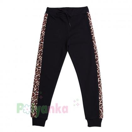Wanex Костюм для девочки чёрный с леопардовыми вставками - Картинка 5