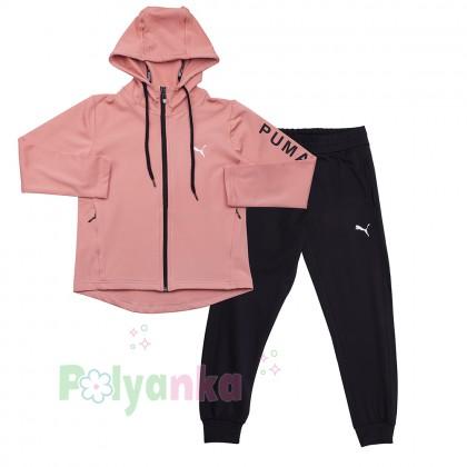 Wanex Спортивный костюм для девочки розово-чёрный - Картинка 1