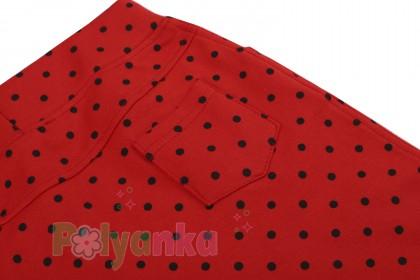 Wanex Юбка детская красная в чёрный горох - Картинка 3