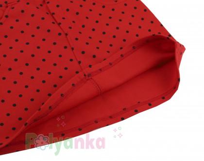 Wanex Юбка детская красная в чёрный горох - Картинка 4