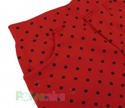 Wanex Юбка детская красная в чёрный горох - Картинка 5