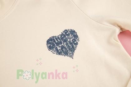 Wanex Водолазка молочная с сердечком - Картинка 3