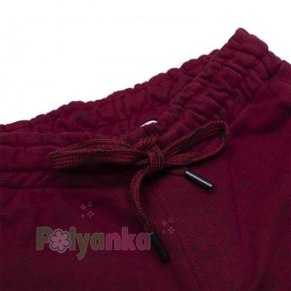 Wanex Спортивные штаны для мальчика бордовые с начёсом - Картинка 3