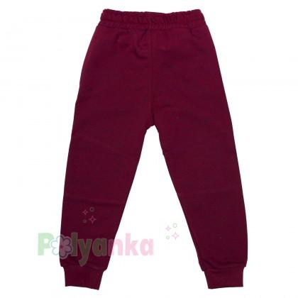Wanex Спортивные штаны для мальчика бордовые с начёсом - Картинка 4