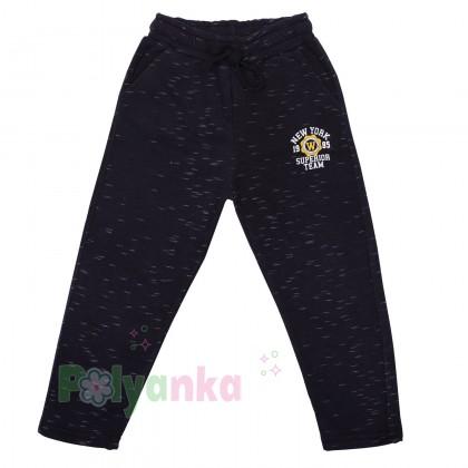 Wanex Спортивные штаны для мальчика чёрные с начёсом - Картинка 1