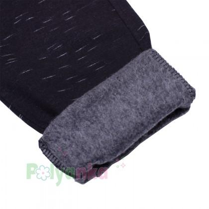 Wanex Спортивные штаны для мальчика чёрные с начёсом - Картинка 3