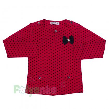Wanex Комплект детский красный в чёрный горох - Картинка 2