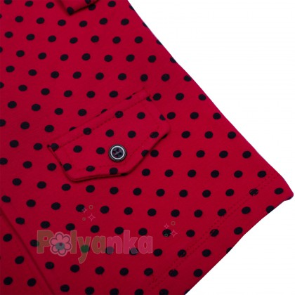 Wanex Комплект детский красный в чёрный горох - Картинка 5