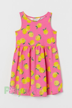 H&M Сарафан для девочки розовый с лимонами - Картинка 1