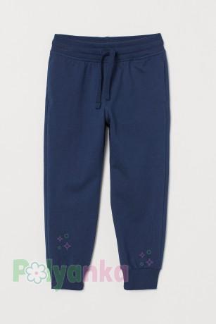 H&M Спортивные штаны для мальчика с манжетами синие - Картинка 1